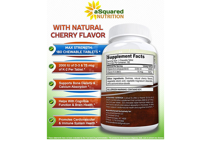 Maximum Strength Vitamin D-3 & K-2 Supplement