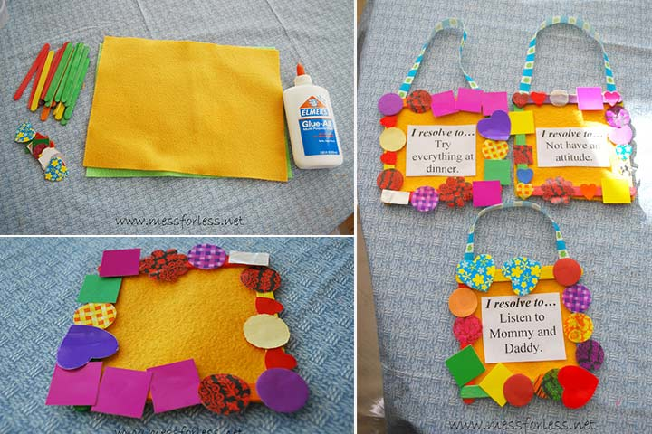 New Year Crafts For Kids - New Year's Resolution Craft