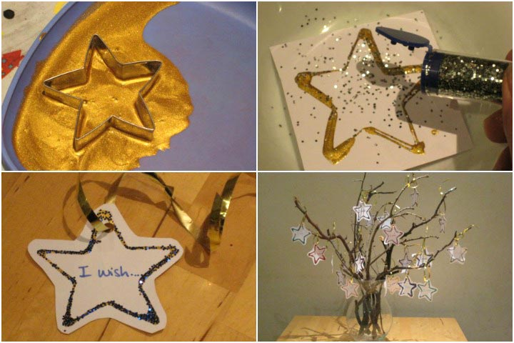 New Year Crafts For Kids - New Year Eve's Wishing Tree