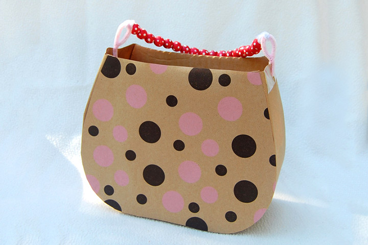 Cardboard Box Crafts For Kids - Old Granny Handbag
