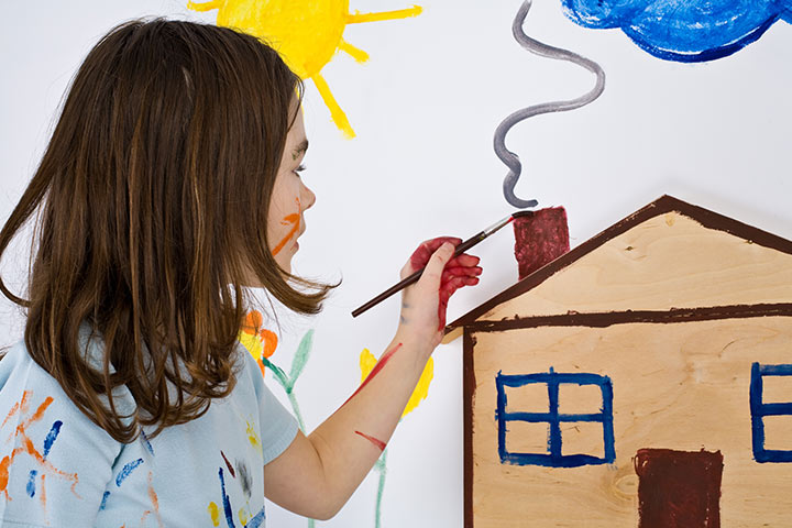 French Crafts For Kids - Paint Wall Murals