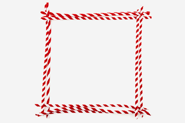 Pipe Cleaner Picture Frame