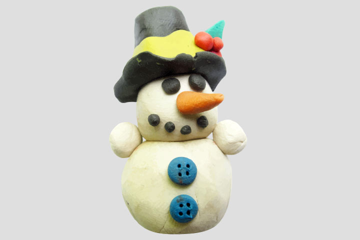 Advent Activities For Kids - Playdough Snowman