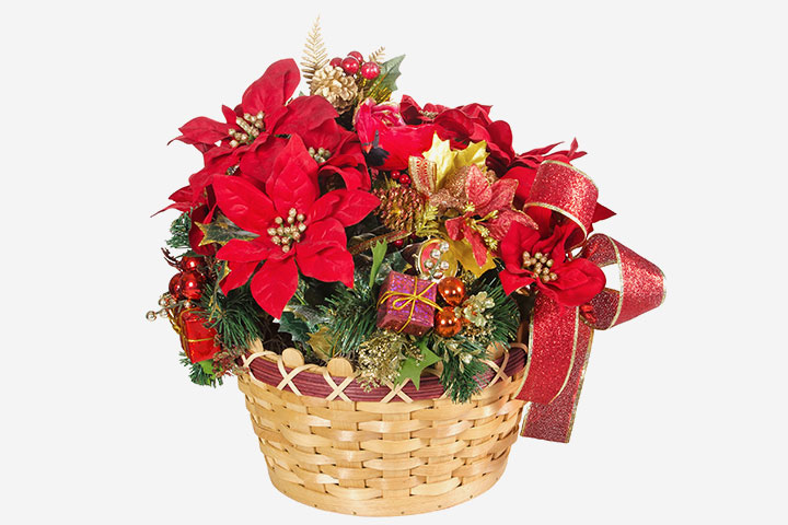 Poinsettia Crafts - Poinsettia Basket