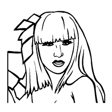 lady gaga coloring pages poker face