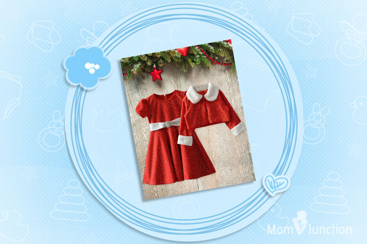 Christmas Outfits For Babies - Pretty Polka Dot Dress For Christmas Costume