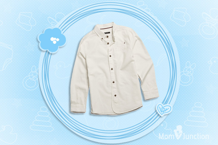 Christmas Outfits For Kids - Pure Cotton Long Sleeve Oxford Shirt