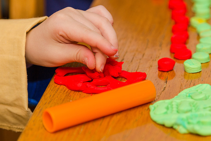 Advent Activities For Kids - Red And Green Dough