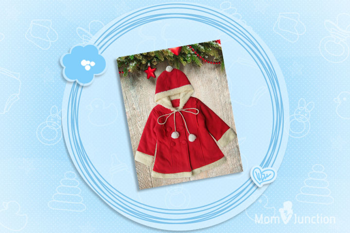 Christmas Outfits For Babies - Red Hooded Jacket Costume