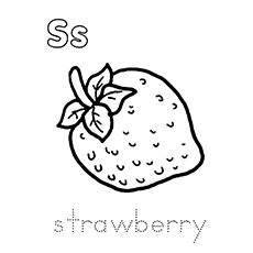 S For Strawberry Coloring Pages
