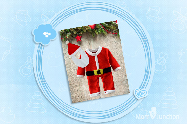 Christmas Outfits For Babies - Santa Claus One Piece Christmas Costume