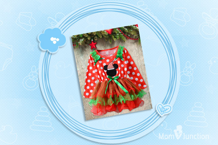 Christmas Outfits For Babies - Santa Claus Ruffle Dress For Christmas