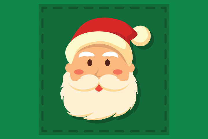Collage Ideas For Kids - Santa Face Collage