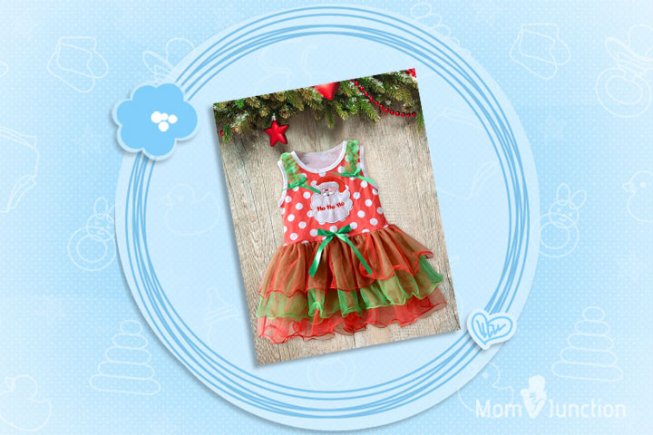 Christmas Outfits For Babies - Santa Ho Ho Christmas Costume Dress