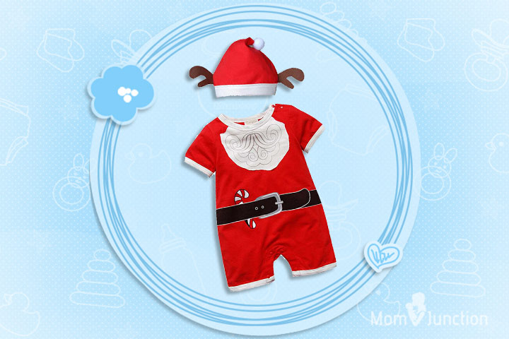 Christmas Outfits For Babies - Santa One Piece Costume