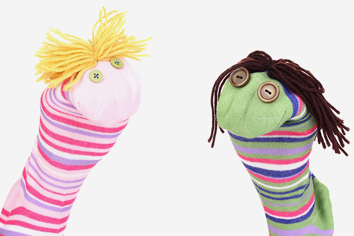 Recycled Crafts For Kids - Sock Puppets