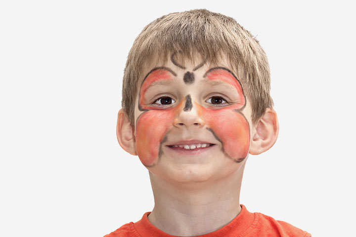 Butterfly Face Painting Designs For Kids - Sparkle Butterfly