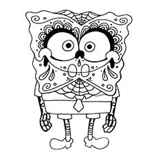 Skull Coloring Pages - SpongeBob