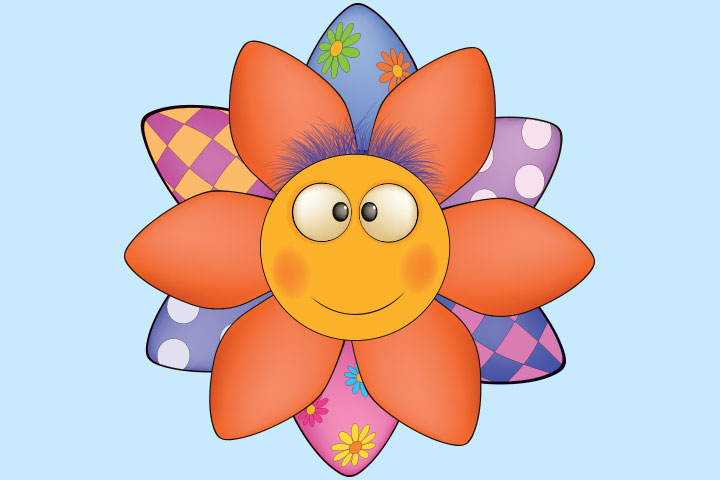 French Crafts For Kids - Sunflower Mask