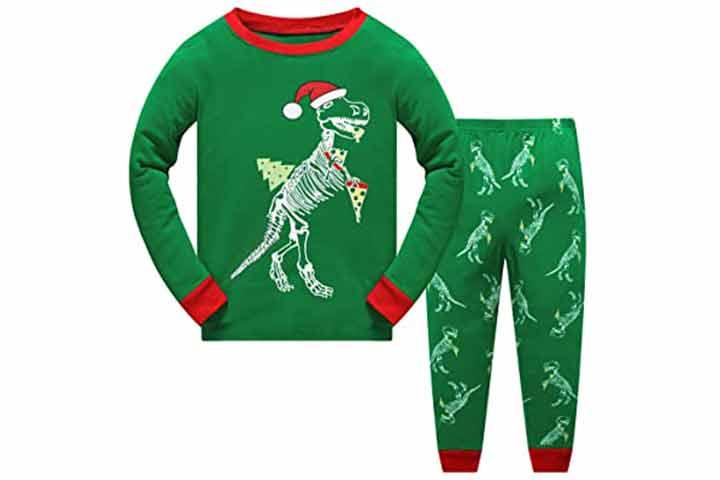 Sweetkids Dinosaur Xmas Sleepwear Set