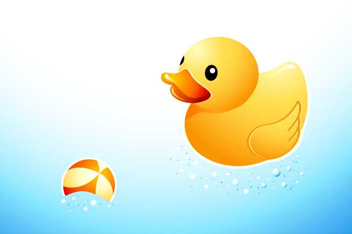 Duck Activities - Swimming Duck