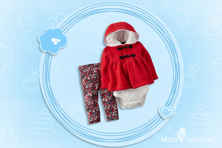 Christmas Dresses For Toddlers - Three Piece Toggle Cardigan Set