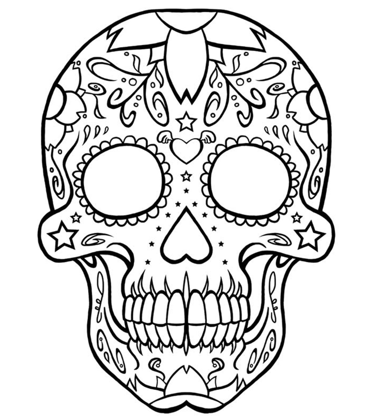 Top  Skull Coloring Pages For Your Little One