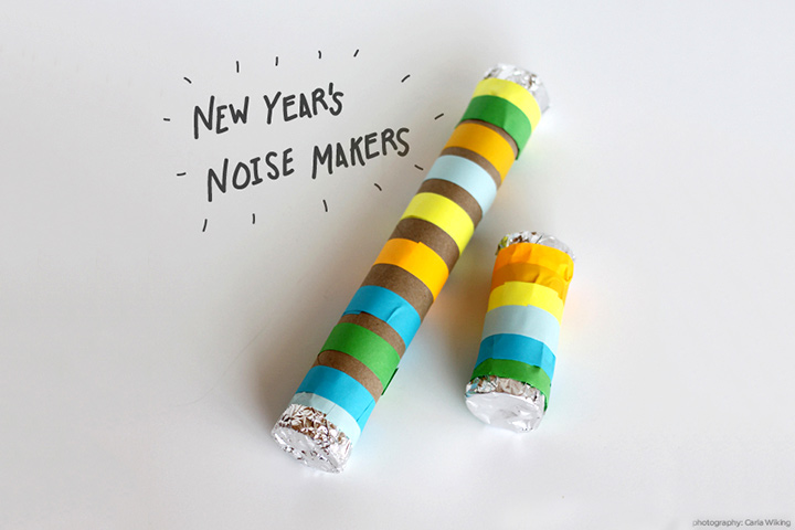 New Year Crafts For Kids - Tropical Colors Noise Maker