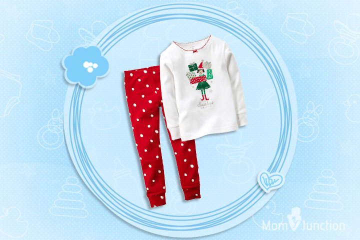 Christmas Dresses For Toddlers - Two Piece Cotton Comfortable Pajamas