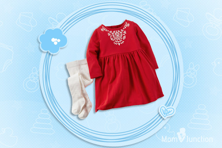 Christmas Dresses For Toddlers - Two Piece Legging And Top Set