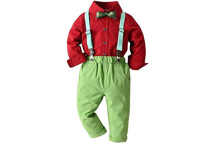 Xifamniy Boys Gentleman Suspender Overalls