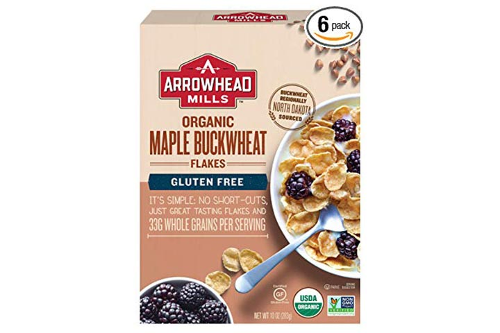 Arrowhead Mills Organic Gluten-Free Cereal, Maple Buckwheat Flakes