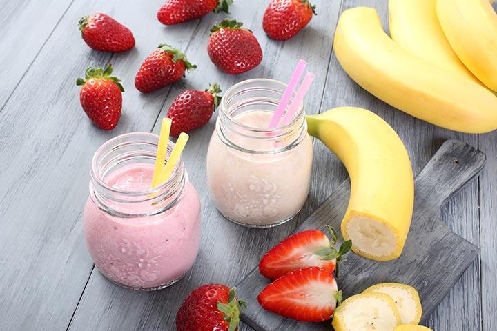Banana Recipes For Kids - Banana And Strawberry Smoothie