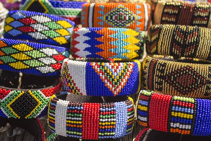 Bead Crafts For Kids - Beaded Wooden Bangles