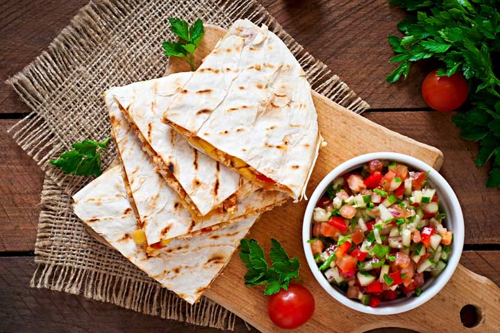Lunch Box Recipes For Kids - Chicken Quesadillas