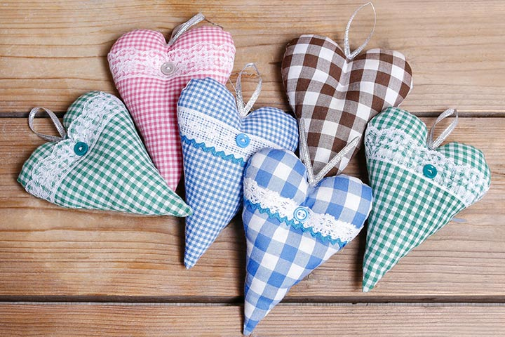 Grandparents' Day Crafts - Cloth Hearts