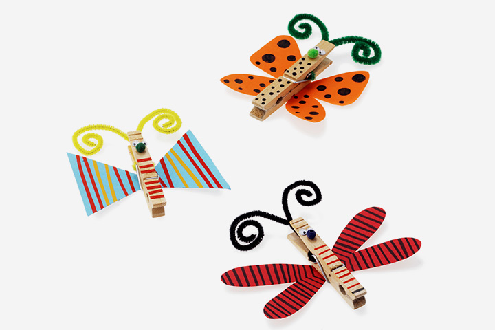 Cloth clips butterfly