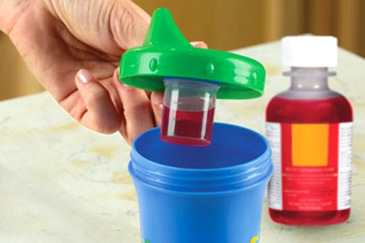 Conceal that most disliked medicine in this medicine dispensing sippy cup for your baby.