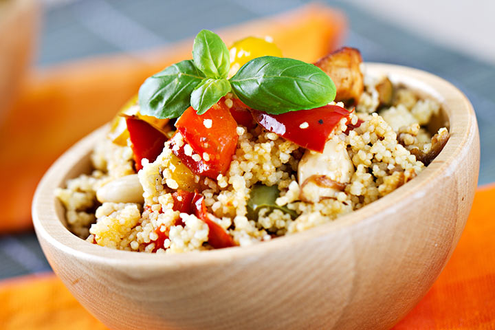 Lunch Box Recipes For Kids  - Couscous Salad
