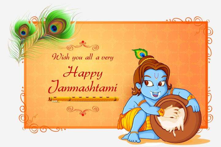 Janmashtami Activities For Kids - Create Janmashtami Greeting Card