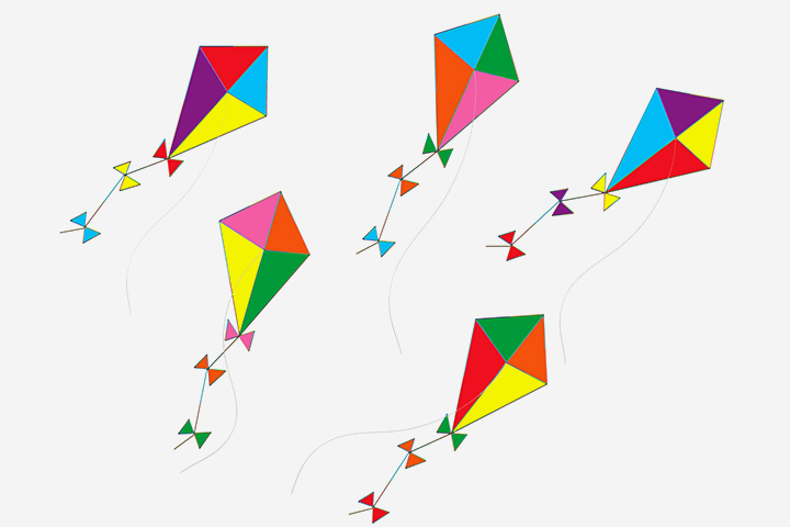 Diamond kite template image collections templates design ideas - How to make a kite ...