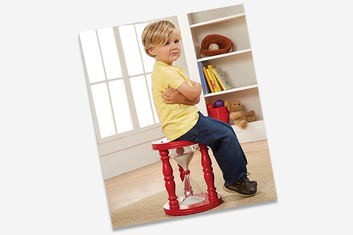 Disciplining your child couldn't get easier! Here's the time out stool for you kid.