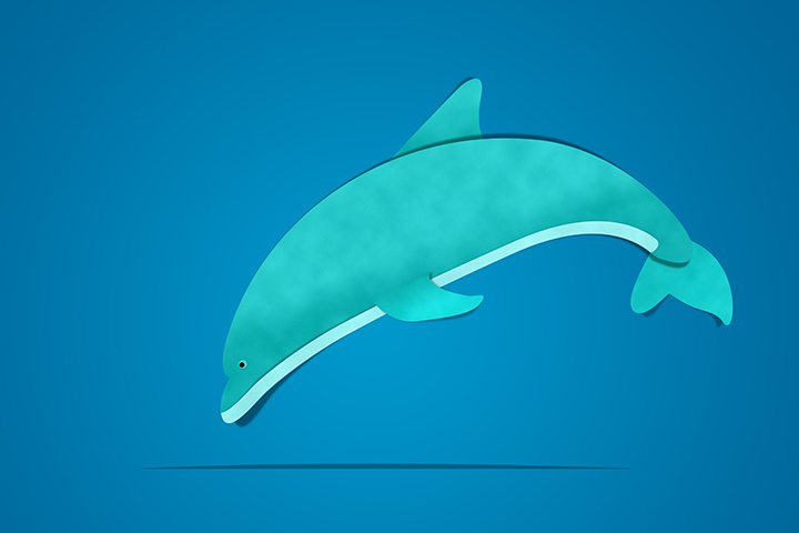 Dolphin Crafts - Dolphin Paper Art