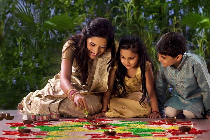 Janmashtami Activities For Kids - Draw Rangoli