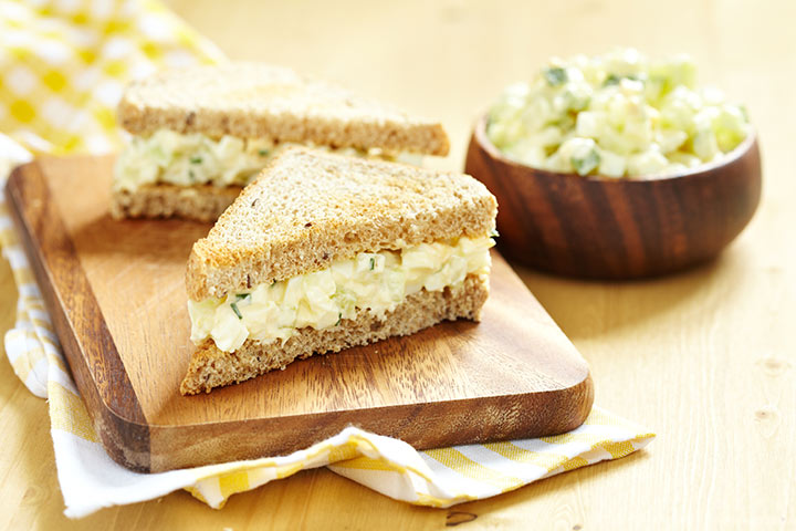 Lunch Box Recipes For Kids - Egg Salad Sandwich