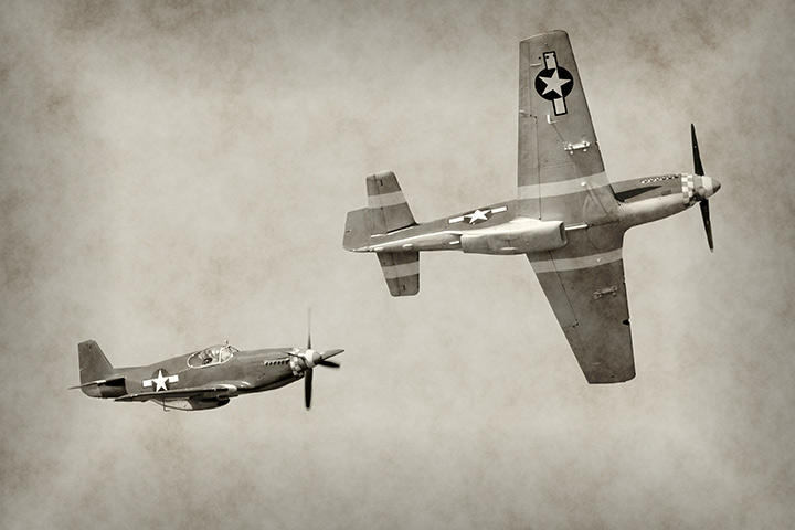 Fighter planes in WWII