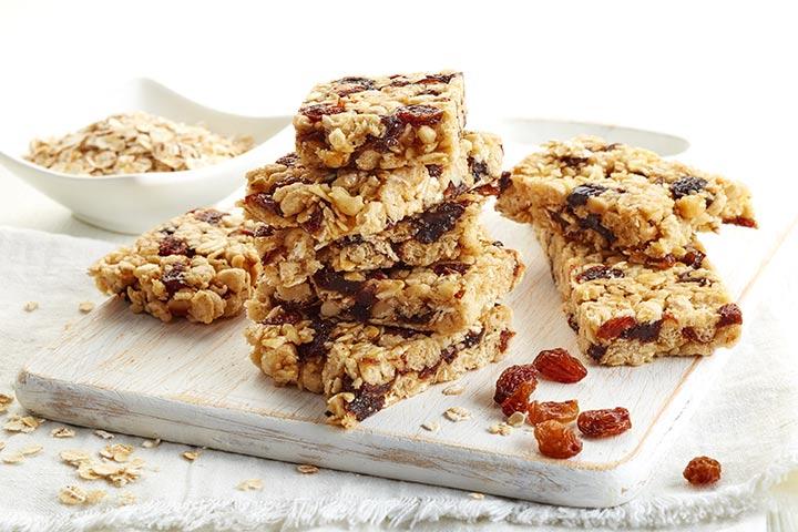 Lunch Box Recipes For Kids - Granola Bars
