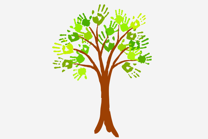 Grandparents' Day Crafts - Hand Print Family Tree