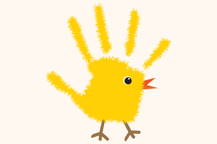 Handprint Easter Chicken