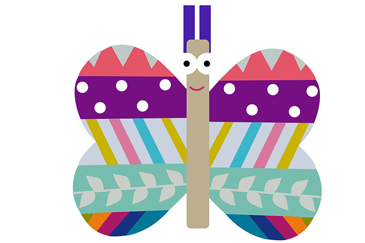 Ice cream stick butterfly